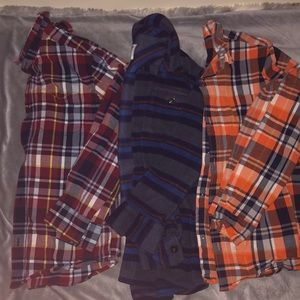 Old navy flannel lot Size 10-12